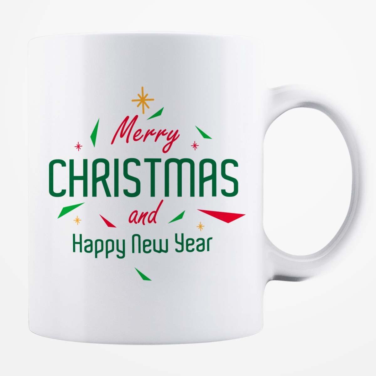 Cană albă personalizată - Merry Christmas
