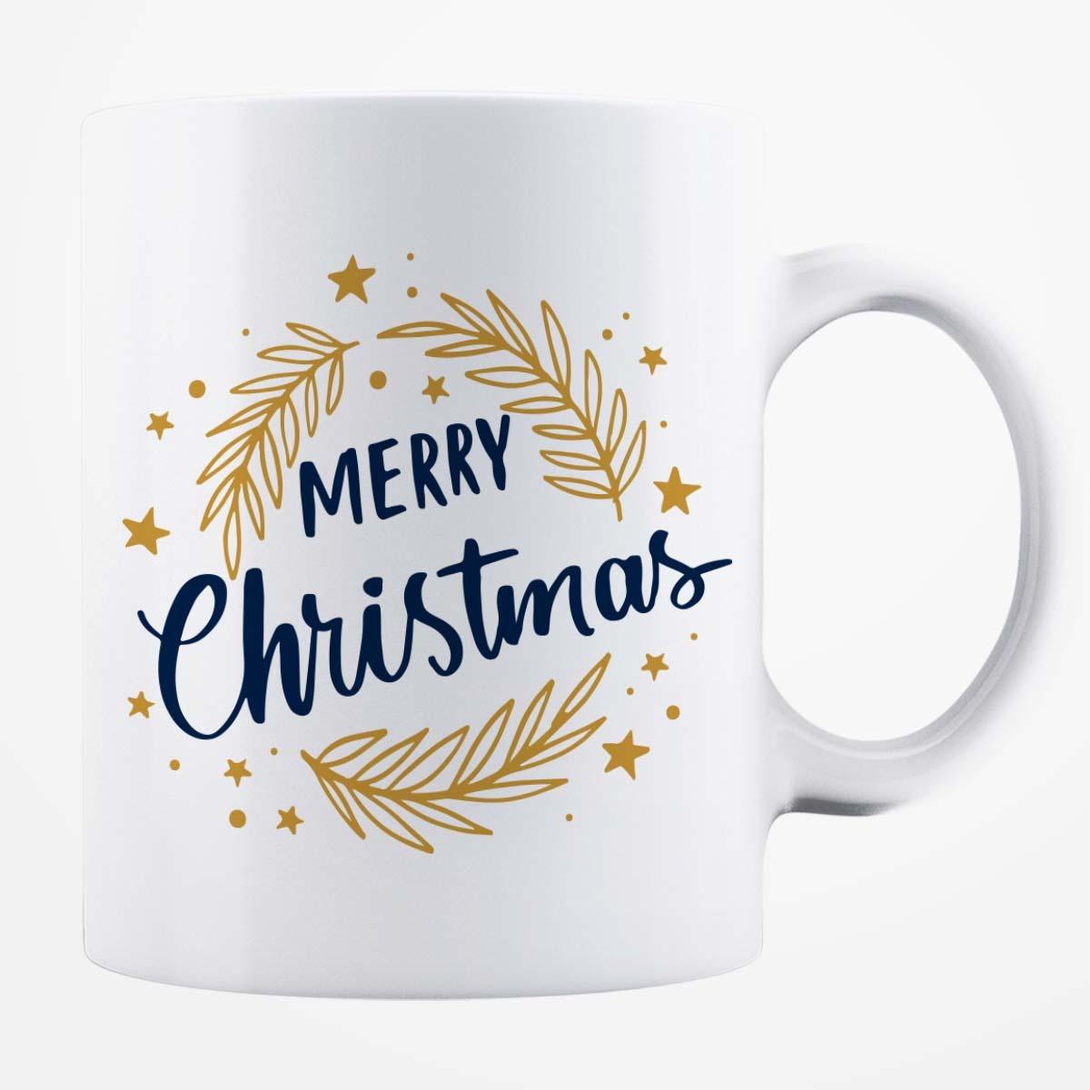 Cană albă personalizată - Merry Christmas!
