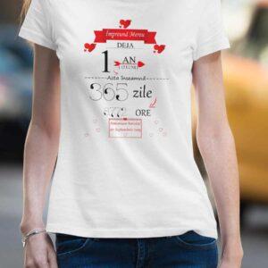 Tricou personalizat - 1 An de relație