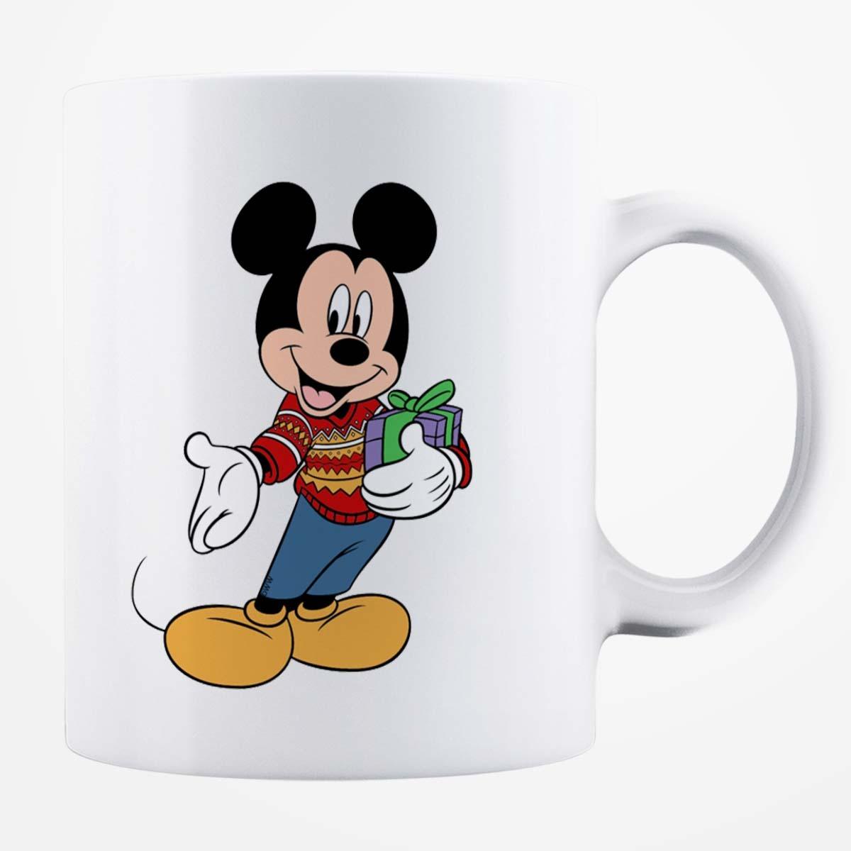 Cană albă personalizată - Mickey